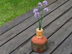 Wooden vase with test tubewood vase rustic vase by Woodur on Etsy