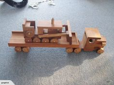 Wooden truck and Bull dozer. $1 res. | Trade Me