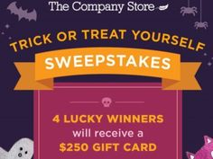 The Company Store Trick or Treat Yourself Sweepstakes