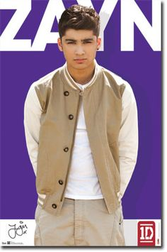 Zayn with a solid background 1D - Zayn Malik Poster