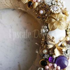 i have made several vintage jewelry wreaths and sold them. i make many many art crafts from jewelry.