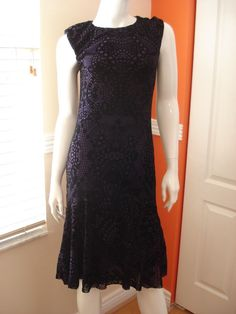 Jean-Paul Gaultier-Fuzzi Flocked Lace-Print Sleeveless Dress Size M NWT $425 #JeanPaulGaultier