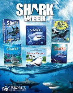 #Sharks are a great way to make learning fun! Learn about some awesome books and great ways to expand on learning with #Usborne Books & More. Follow me on facebook at http://facebook.com/readcristina