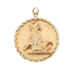 14K Gold Pendant with Hawaiian Motif  by EncoreJewelryandGems
