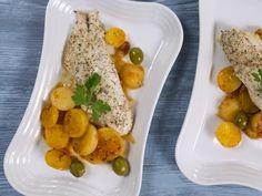 Бон Апети Печена риба с домати и маслини
