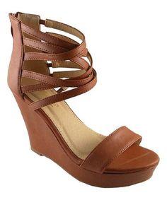 Tan Ada Wedge Sandal #zulily #zulilyfinds