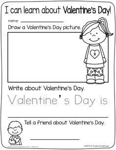 Valentine's Day. I can learn about Valentine's Day writing.