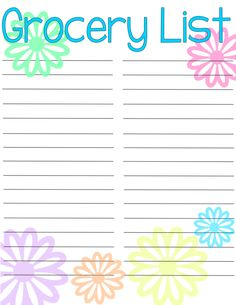 Grocery List {Free Printable}