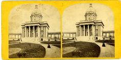 New City Hospital Boston Massachusetts MA Stereoview Opened 1864 | eBay
