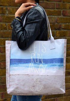 Let's Run Away Beach Tote Bag | Create And Case | ASOS Marketplace