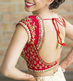 Red Mirror Work #Bridal Blouse
