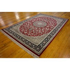 Kashan Red Area Rug | Wayfair