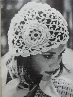Free Pattern for Vintage Irish Crochet Hat – 19