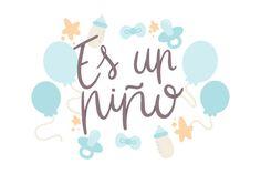 Es Un Niño (SVG Cut file) by Creative Fabrica Crafts · Creative Fabrica Party Logo, Baby Shawer, Foto Baby, Svg Cuts, Design Crafts, Baby Fever, Baby Boy Shower, Business Card Design, Cricut Design