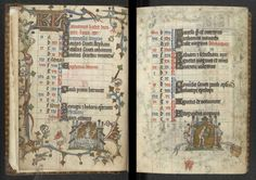 Calendar pages for January, Additional MS 36684, ff. 1v–2r