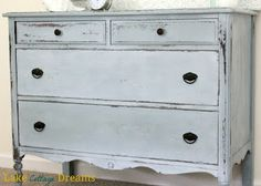 Antique Early American Dresser Chest From The 1830s Painted And Distressed