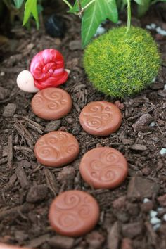 Stepping Stones - Fairy Garden Accessory - Polymer Clay Stepping Stones - Terrarium Accessory – Miniature Garden Decoration - DIY Fairy Gardens