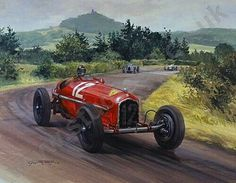 Tazio Nuvolari and Scuderia Ferrari stunned the racing world and scored one of their most impressive wins at the 1935 German Grand Prix at the Nürburgring. Nuvolari piloted an old Alfa Romeo P3 with 265 hp to victory against the all conquering home team's five Mercedes-Benz W25's and  four Auto Union Tipo B's, all producing an estimated 375 hp. The crowd of 300,000 applauded Nuvolari, but the representatives of the Third Reich were enraged. #F1 #ScuderiaFerrari #Nuvolari #GermanGP #RedSeason