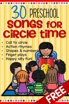 Songs and rhymes for circle time for preschool Pre-K and Kindergarten. Songs and rhymes for circle time for preschool Pre-K and Kindergarten.,kids activities Here is a collection of the words for some songs and. Kindergarten Songs, Preschool Songs, Preschool Learning Activities, Preschool Curriculum, Preschool Lessons, Toddler Learning, Preschool Circle Time Songs, Songs For Preschoolers, Transition Songs For Preschool