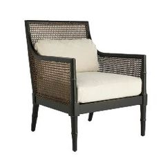 French Colonial rattan chair
