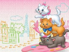 Disney's The Aristocats - Movies & Entertainment Background Wallpapers on Desktop Nexus (Image Gatos Disney, Disney Cats, Baby Disney, Disney Love, Disney Pixar, Disney Characters, Nickelodeon Cartoons, Disney Animation, Aristocats Movie