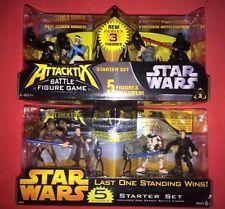 2 STAR WARS ATTACKTIX 5 FIGURE BATTLE GAME STARTER SETS  by HASBRO (2005).