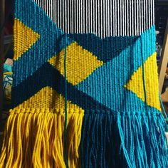 Latest weaving in progress. Loving the color combo.