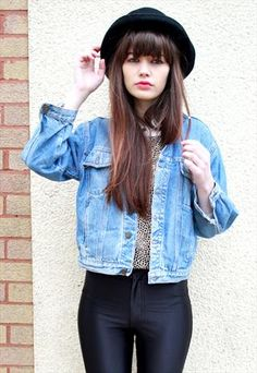 Vintage 80's Grunge Stonewashed Denim Jacket