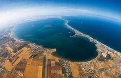 Vista aérea del Mar Menor- MURCIA. España
