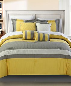 Take a look at this Yellow Diamante Comforter Set today!