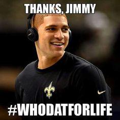Thanks Jimmy Graham. Whodatforlife