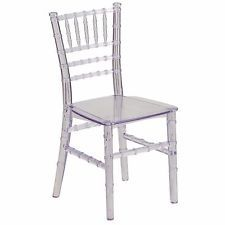 Lightweight Contemporary Stackable Kids Crystal Chiavari Dining Plastic Chair