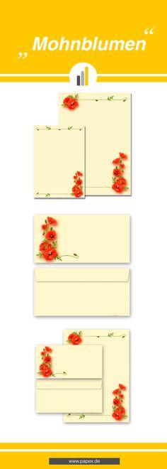 Briefpapier / Motivpapier MOHNBLUMEN - Sagen Sie es »durch die Blume« mit unseren variantenreichen Blütenmotiven oder Designs aus vielen anderen Themenbereichen, um einem persönlichen Schreiben den richtigen Rahmen zu verleihen. Das Verwenden Sie unsere Produkte als Werbewirksame Zielgruppenmailings, Weihnachtsgrüße, für Angebote, als Saison-Briefpapier, für Einladungen, Glückwünsche, Speisekarteneinlagen, Aktionsprogramme, Feste, als Aushang im Schaufenster und für weitere tausend Anlässe.