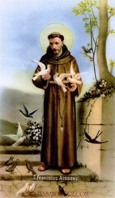 Saint Francis of Assisi Francis Of Assisi Prayer, Saint Francis Prayer, St Francis, Catholic Gifts, Catholic Art, Roman Catholic, Religious Images, Religious Art, Statues