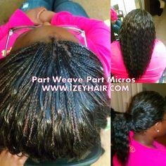 Part Weave/Part Micros www.izeyhair.com