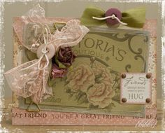 Vintage/shabby chic card