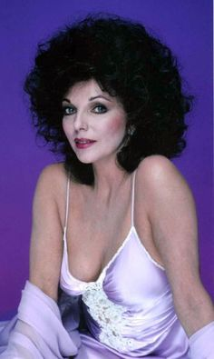 Dame Joan Collins, 80s Tv, Nyc, Anime Neko, London, Beautiful Actresses, Vintage Looks, White Photography, Curly Hair Styles