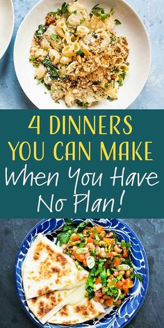 4 Emergency Meals You Can Make No Matter What Is In the Fridge! If the pantry and fridge look bare, don't worry. There's always something you can make for dinner. Here are 4 emergency meals you can make no matter how slim the pickings look! Fast Easy Dinner, Fast Dinner Recipes, Fast Dinners, Delicious Dinner Recipes, Good Healthy Recipes, Low Calorie Recipes, Whole Food Recipes, Cooking Recipes, Cooking Hacks