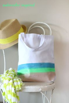 For the Love Of Totes - 4 Simple DIY Neon Tote Ideas » For the Love of... For the Love of…