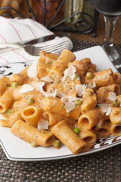 Spicy Chicken Rigatoni recipe is just like my favorite pasta dish at a beloved…