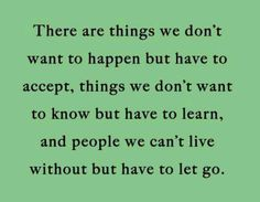 Must let go