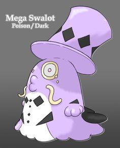 Pokemon Pastel: Mega Swalot by Midnitez-REMIX.deviantart.com on @DeviantArt