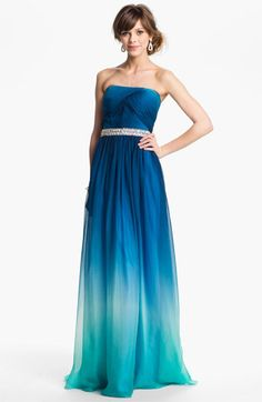La Femme Embellished Ombré Chiffon Gown available at #Nordstrom - such a wonderful hue