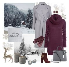 """***winter***"" by marin4e ❤ liked on Polyvore featuring Boohoo, H&M, Aquazzura, Michael Kors, Burberry, Georg Jensen, Bloomingville and Yves Saint Laurent"