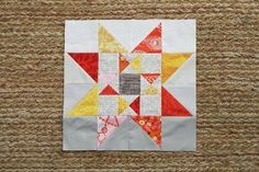 Combine the beautiful color palette of autumn leaves with a unique star quilt pattern by making the Autumn's Constellation Star Block. You'll be making not one, but two quilted stars using hst quilt patterns. Lone Star Quilt, Star Quilt Blocks, Star Quilt Patterns, Star Quilts, Pattern Blocks, Block Quilt, Summer Quilts, Fall Quilts, Quilting Tutorials