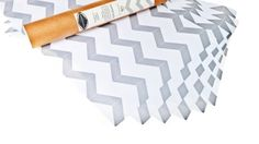 Silver Chevron Drawer Liners $22