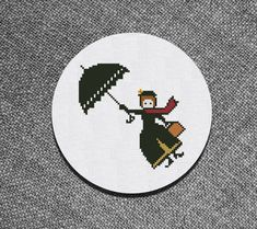 Cross Stitch Pattern Mary Poppins Instant Download PDF by Kiokiz