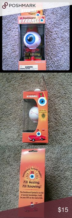 Dashboard Fez Eyeball wobbler Just a random goodie. Brand new in package. Stuck this guy in your car ECT. I bundle! Archie McPhee Other