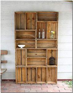fruit crates shelves