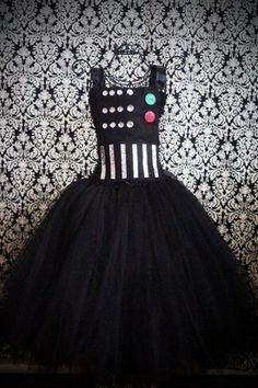 Darts Vader dress, I'm thinking... Sara's Friday night of conference dress?